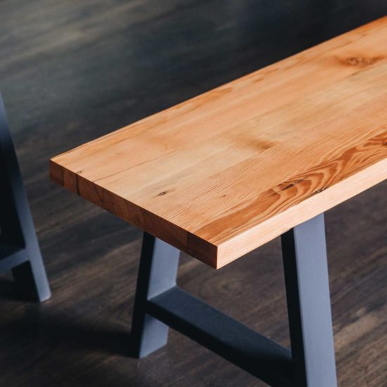 Plank and Trestle, Timber Bench Seat