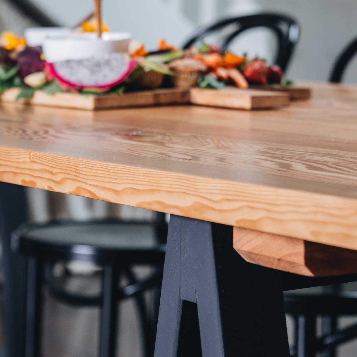 Plank and Trestle, Timber Dining Table