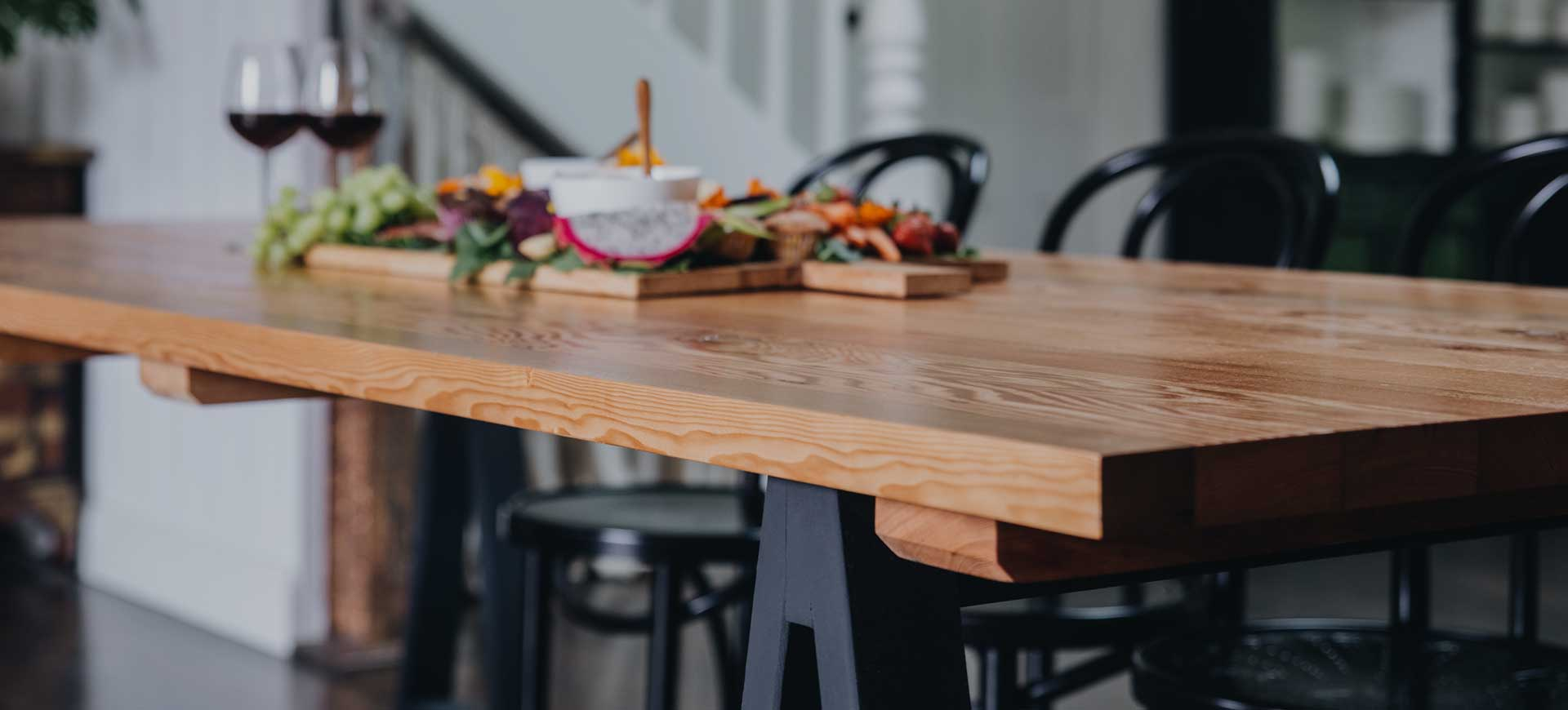 Plank and Trestle Timber Tables, order online